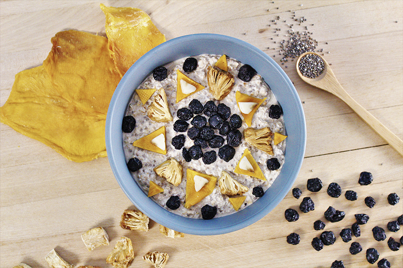 porridge fruits secs